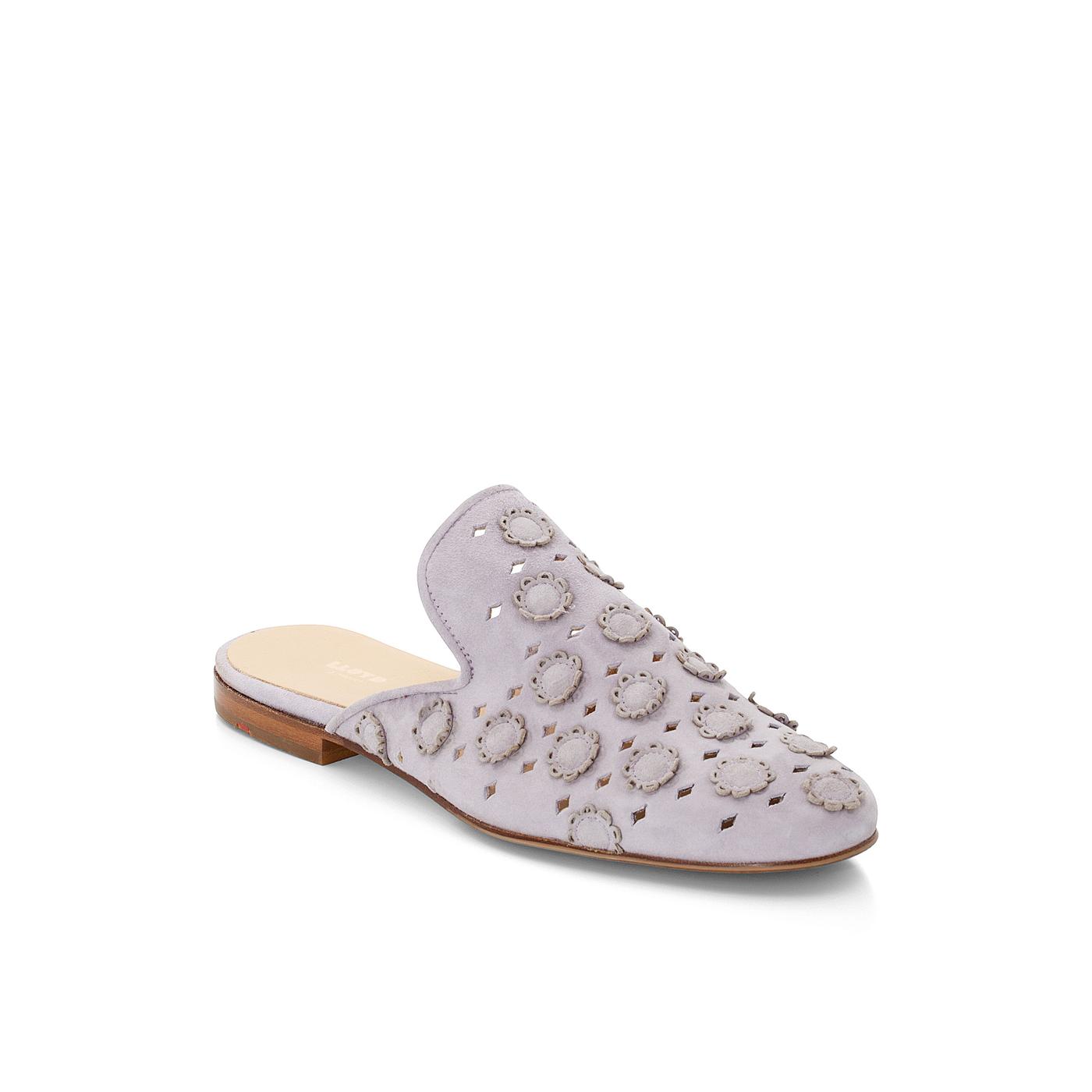 PANTOLETTEN | Schuhe > Clogs & Pantoletten | Lila | Rauleder -  leder | LLOYD