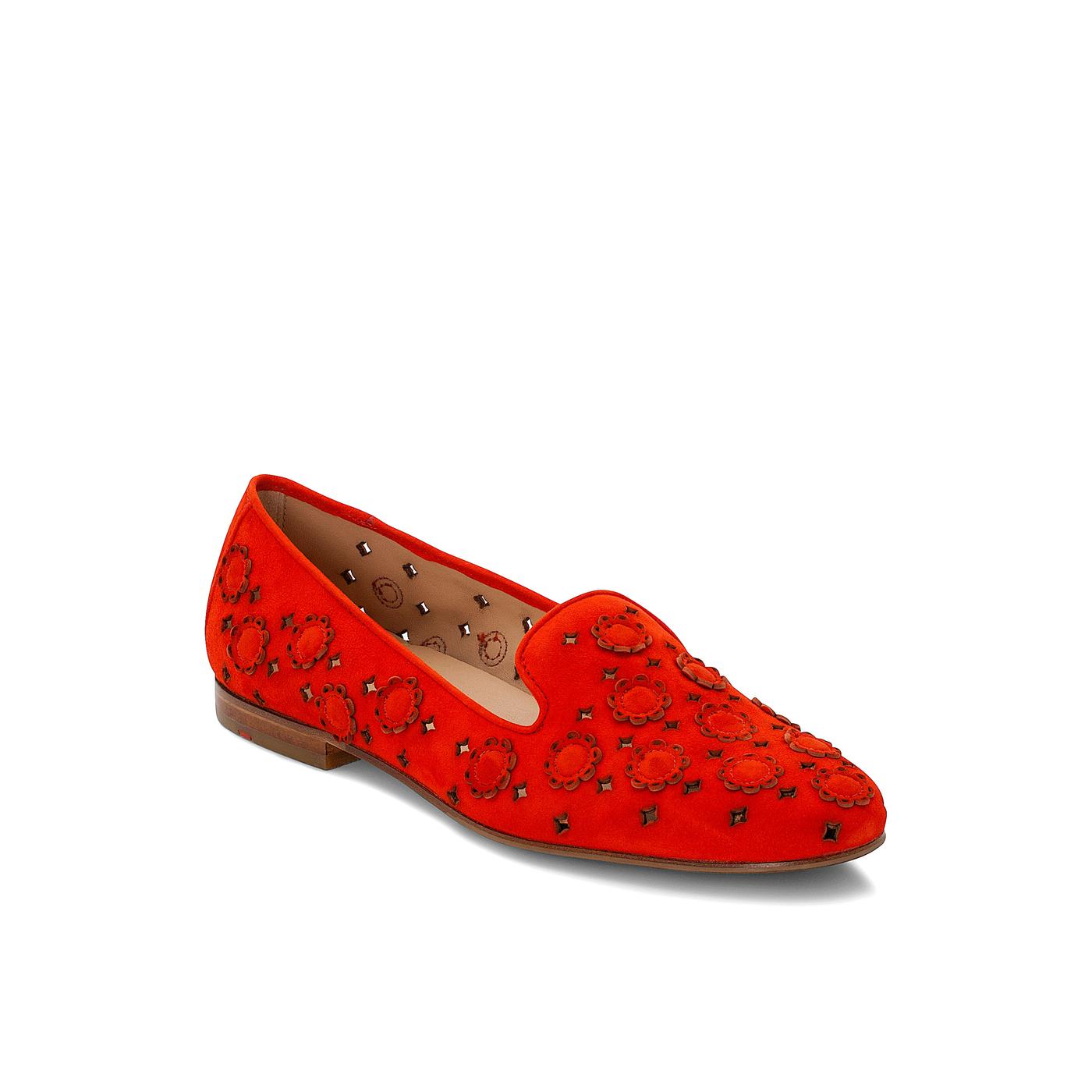 SLIPPER   Schuhe > Slipper   Rot   Rauleder -  leder   LLOYD