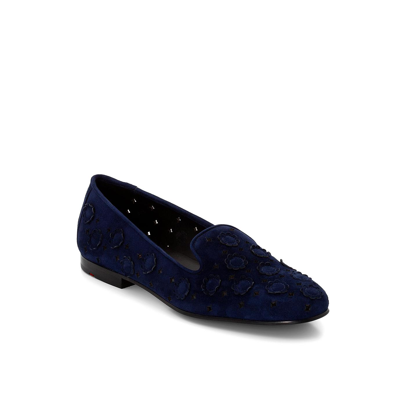 SLIPPER | Schuhe > Slipper | Blau | Rauleder -  leder | LLOYD