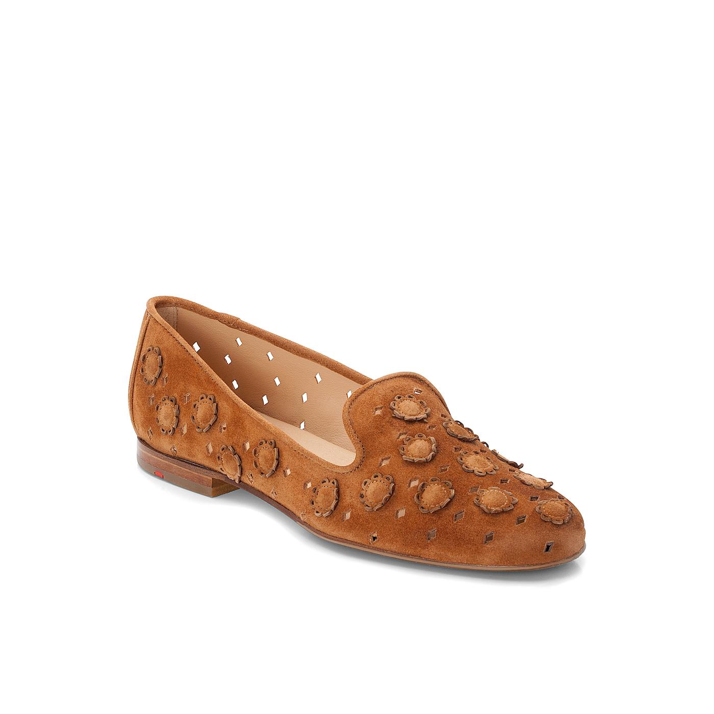 SLIPPER   Schuhe > Slipper   Braun   Rauleder -  leder   LLOYD