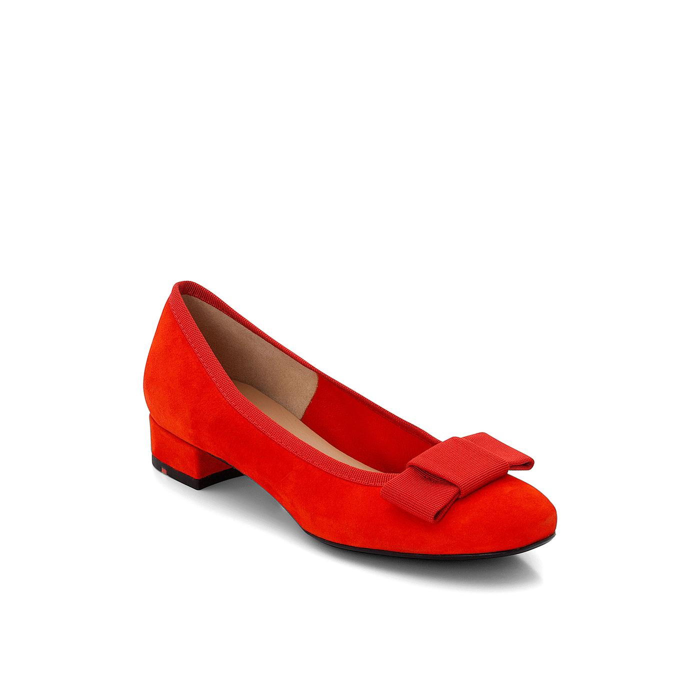 BALLERINA | Schuhe > Ballerinas | Rot | Rauleder -  futterlos | LLOYD