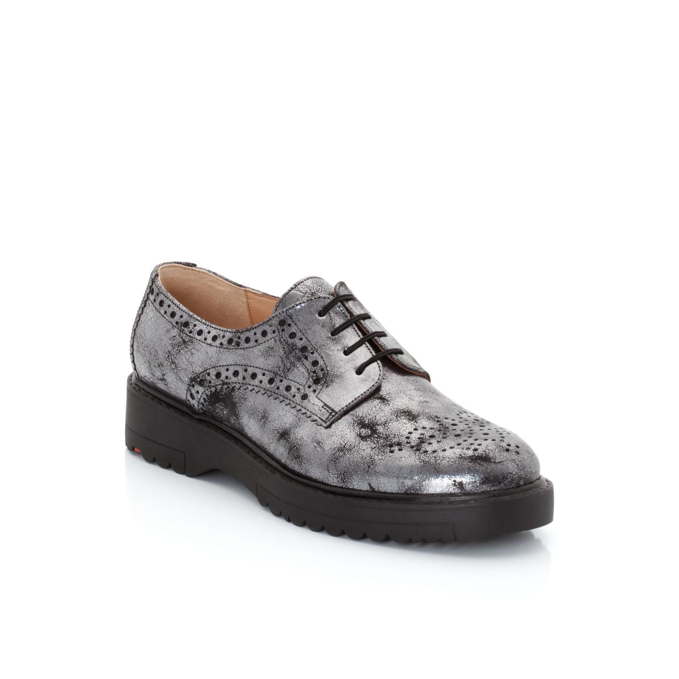 Halbschuhe | Schuhe > Boots > Schnürboots | Silber | Effektleder -  leder | LLOYD