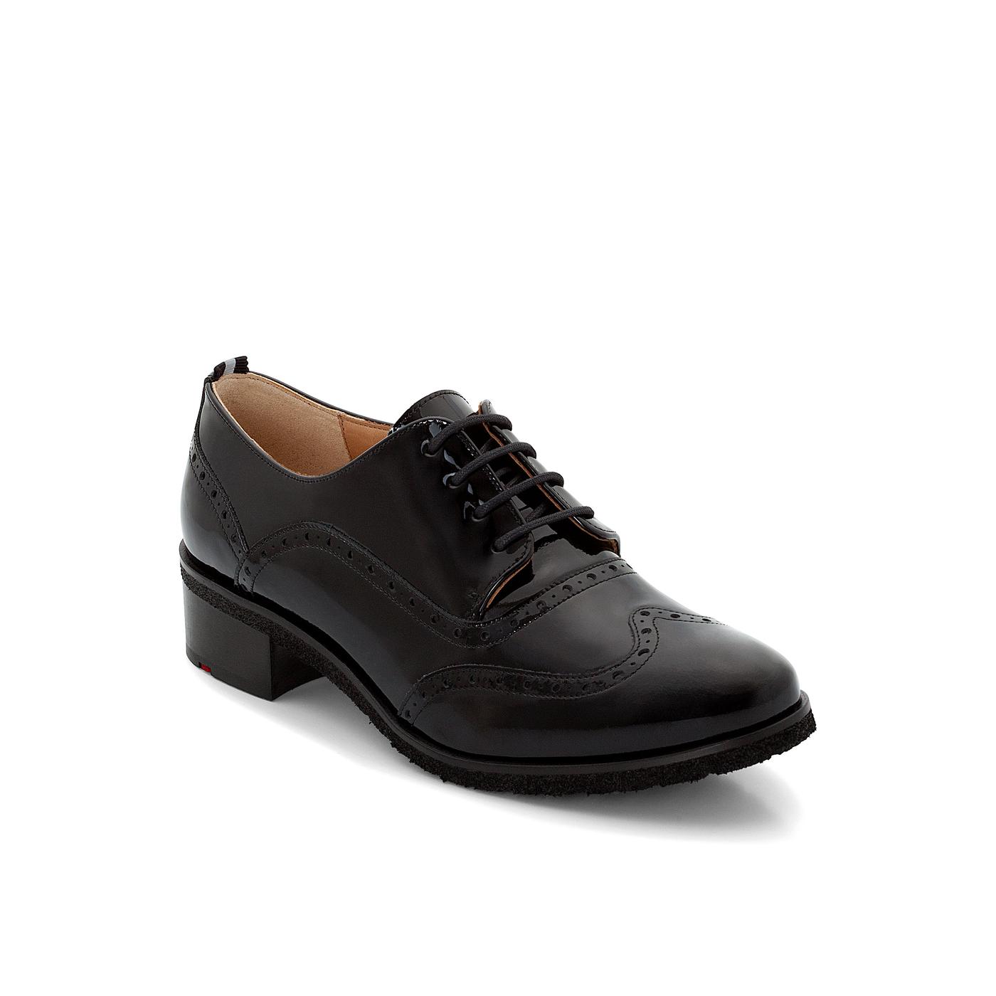 Halbschuhe | Schuhe > Boots > Schnürboots | Schwarz | Glanzleder -  leder | LLOYD