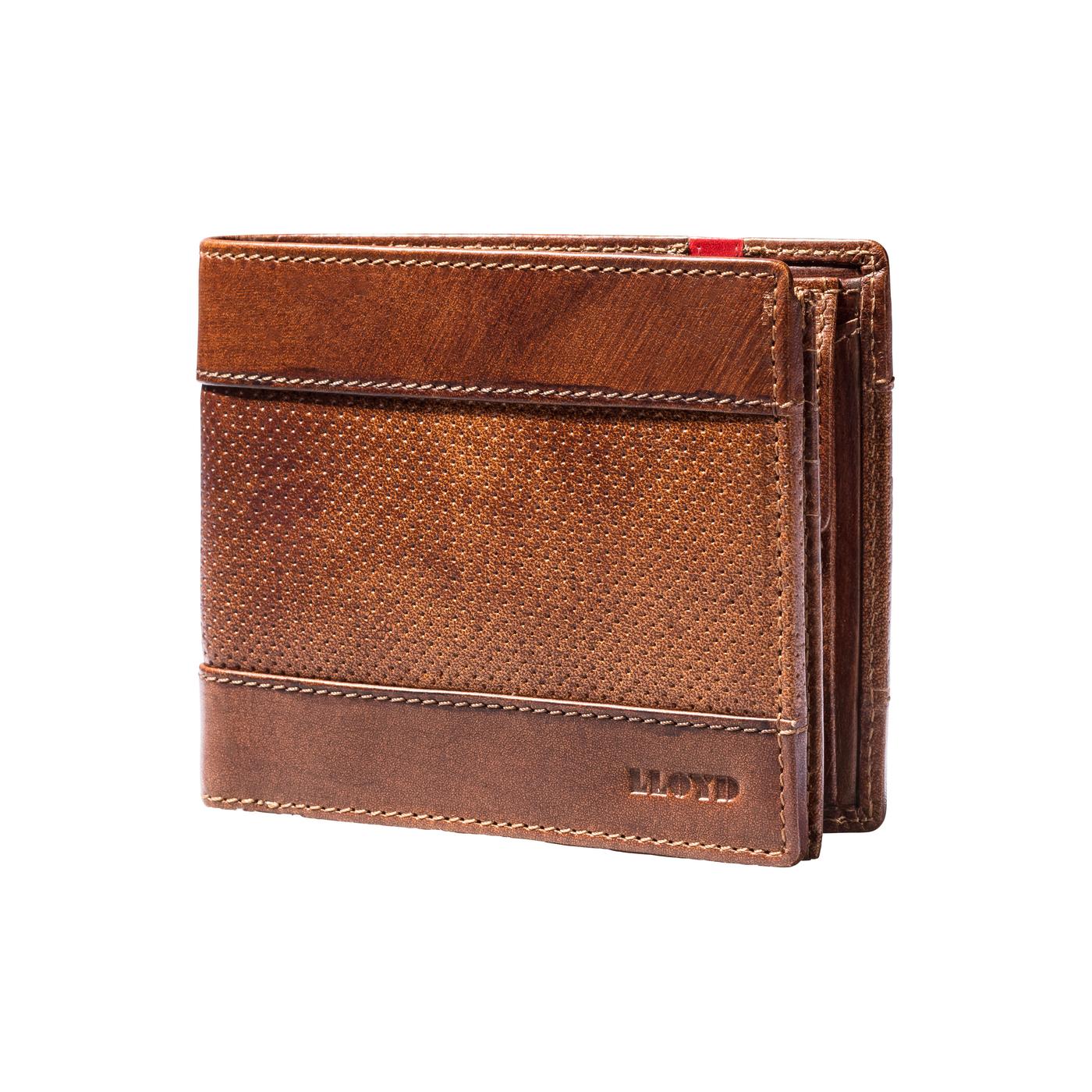 GELDBÖRSE | Accessoires > Portemonnaies | Braun | Geprägtes leder -  polyester ) | LLOYD