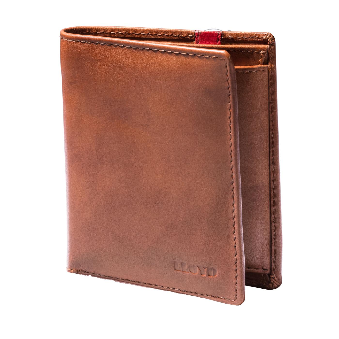 GELDBÖRSE | Accessoires > Portemonnaies > Geldbörsen | Braun | Glattleder -  polyester (100%) | LLOYD